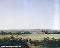 Вид в окрестностях Москвы с усадьбой. 1850