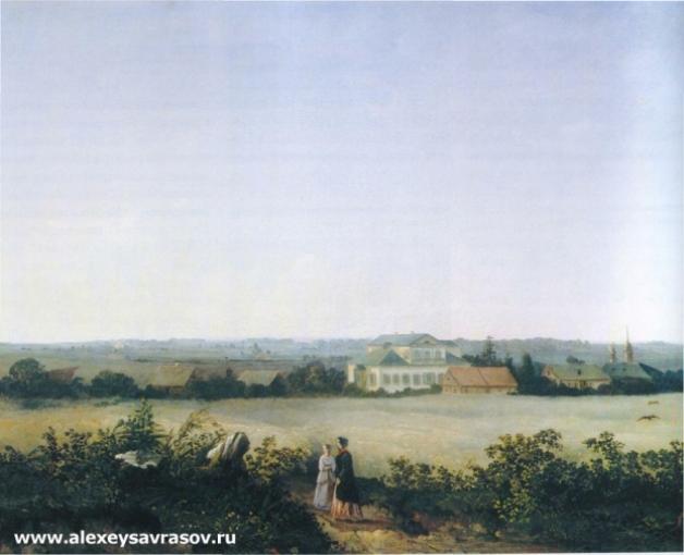 Вид в окресностях Москвы с усадьбой. 1850