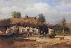 Пейзаж с избушкой. 1866