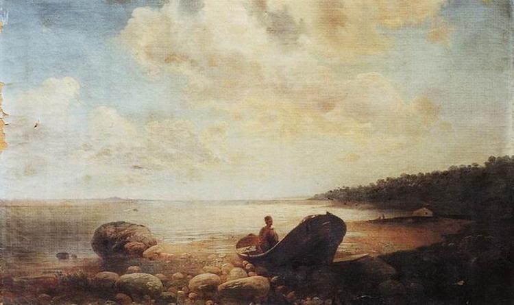 Пейзаж с лодкой. 1860-е