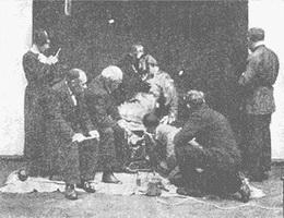 Закрепление красочного слоя картины И. Репина
