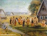 Хоровод в селе. Эскиз. 1873-1874