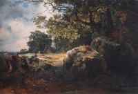 Вид в окрестностях Ораниенбаума. 1854
