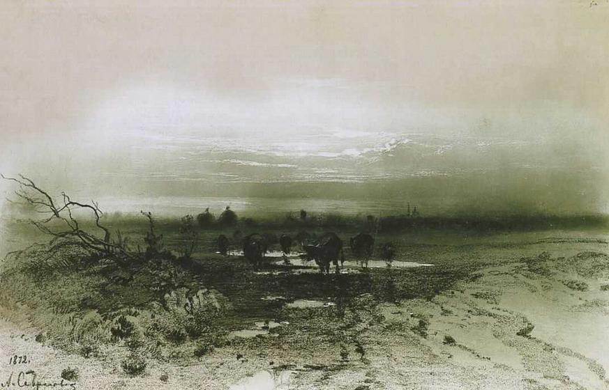 Болото вечером. 1872