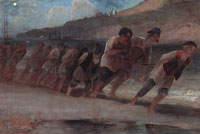 Бурлаки на Волге. 1871