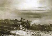 Привал обоза чумаков в степи. 1867