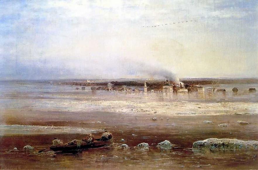Разлив Волги под Ярославлем. 1871