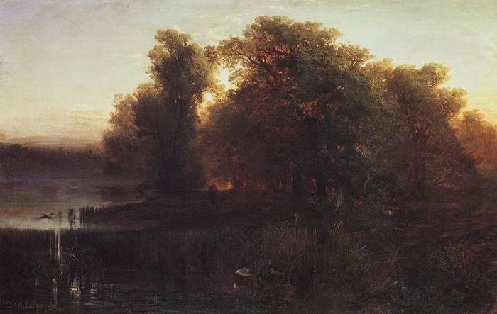 Вечерний пейзаж. 1861