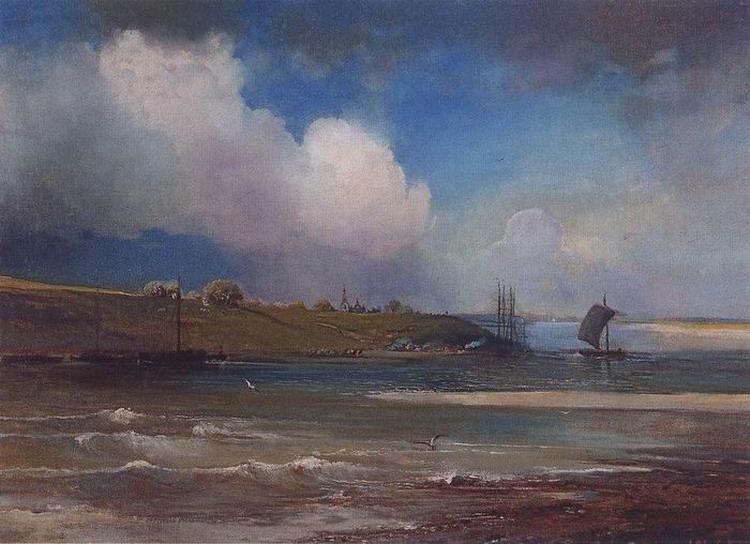 Вид Волги под Юрьевцем. 1870-е