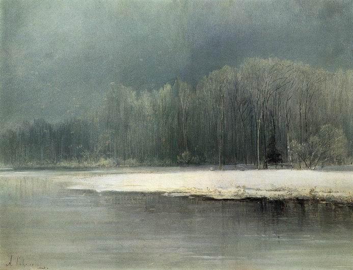 Зимний пейзаж. Иней. 1870-е